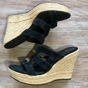 UGG Tawnie Espadrille Wedge Sandals 10